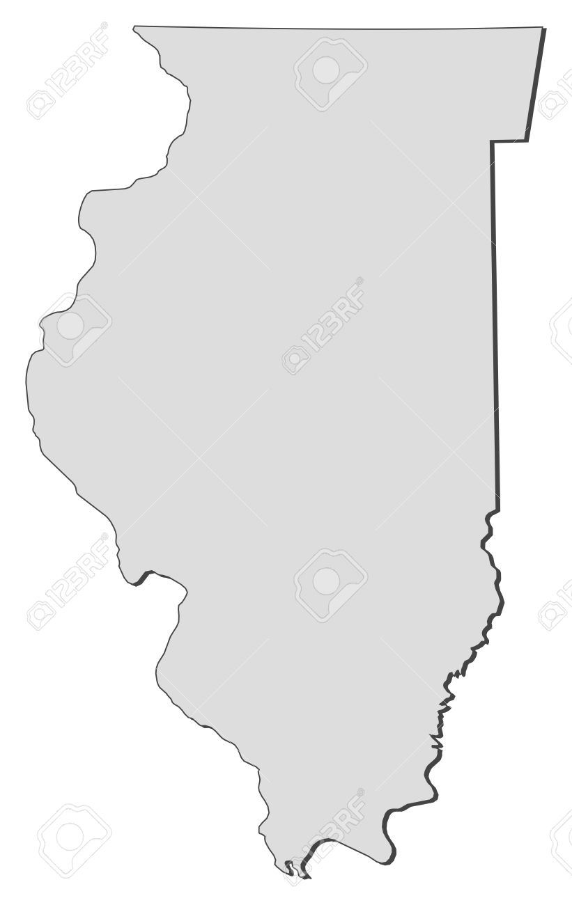Vector Map Of Illinois. Vector. Get Free Images About World Maps.