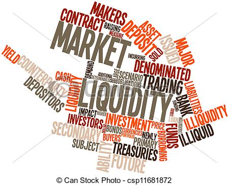 Stock Illustrations of Market liquidity.