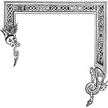 Medieval clip art borders.