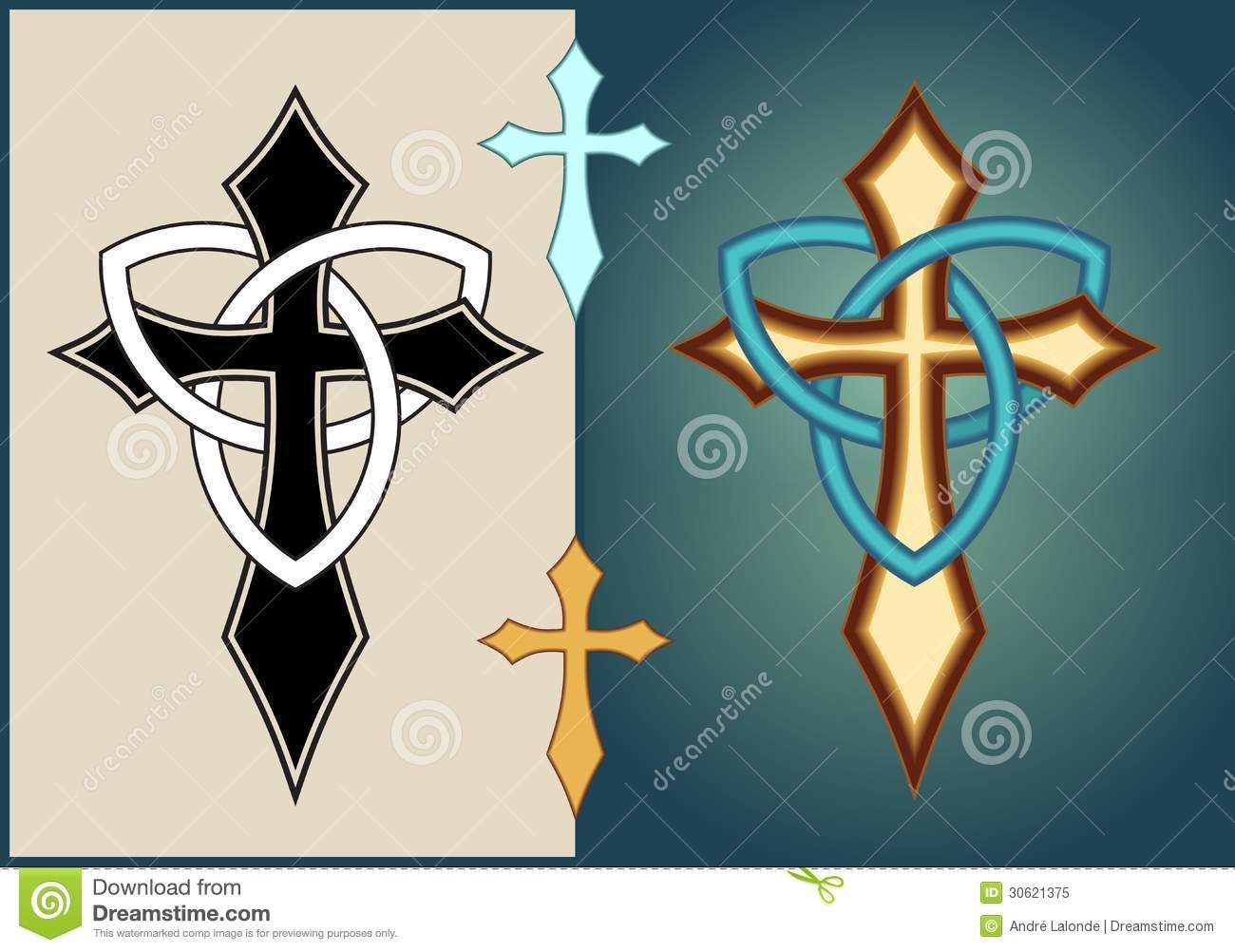 Celtic Illuminated Cross Royalty Free Stock Photo.