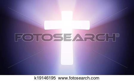 Stock Illustration of Illuminated cross k19146195.