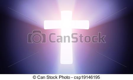 Stock Illustration of Illuminated cross.
