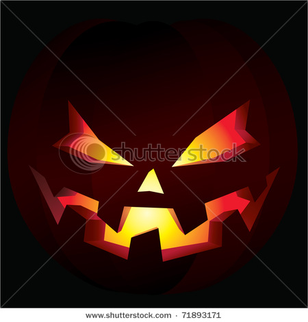clip art Illustration of a carved halloween pumpkin, also known as.