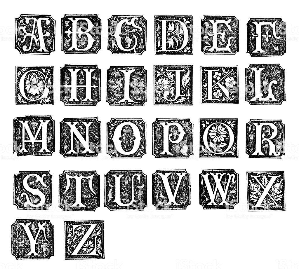 Best Medieval Illuminated Letter Illustrations, Royalty.