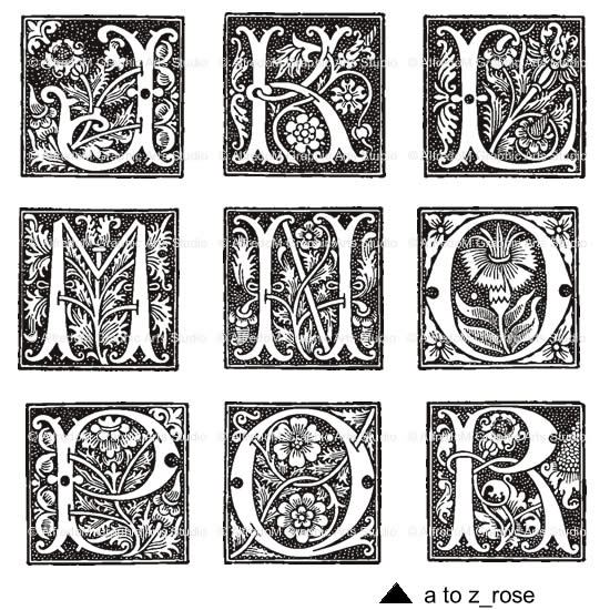 9 Illuminated Letters Font Images.