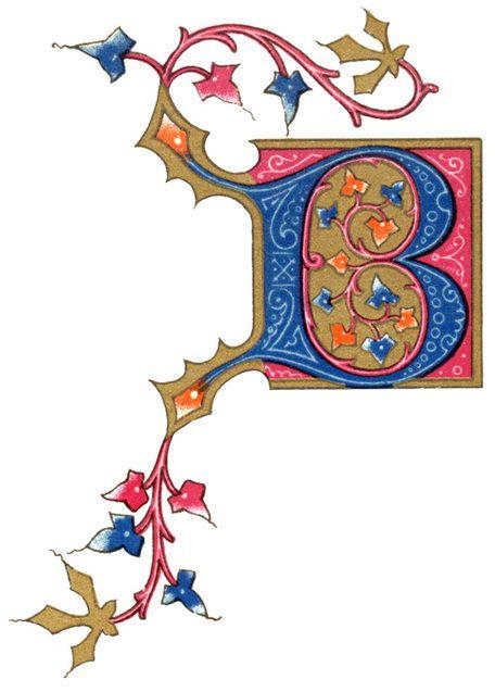 Illuminated Letters Clipart.