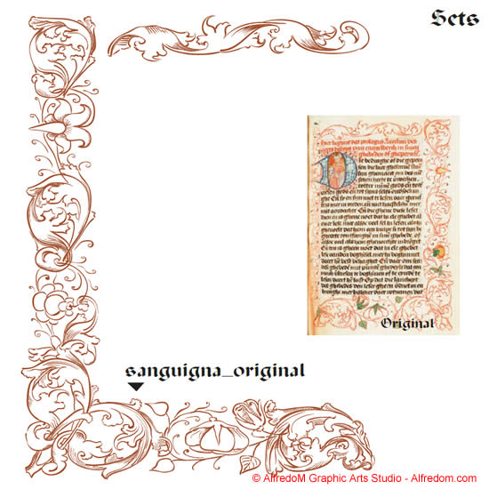 Medieval and Renaissance Illuminated Manuscripts Borders.