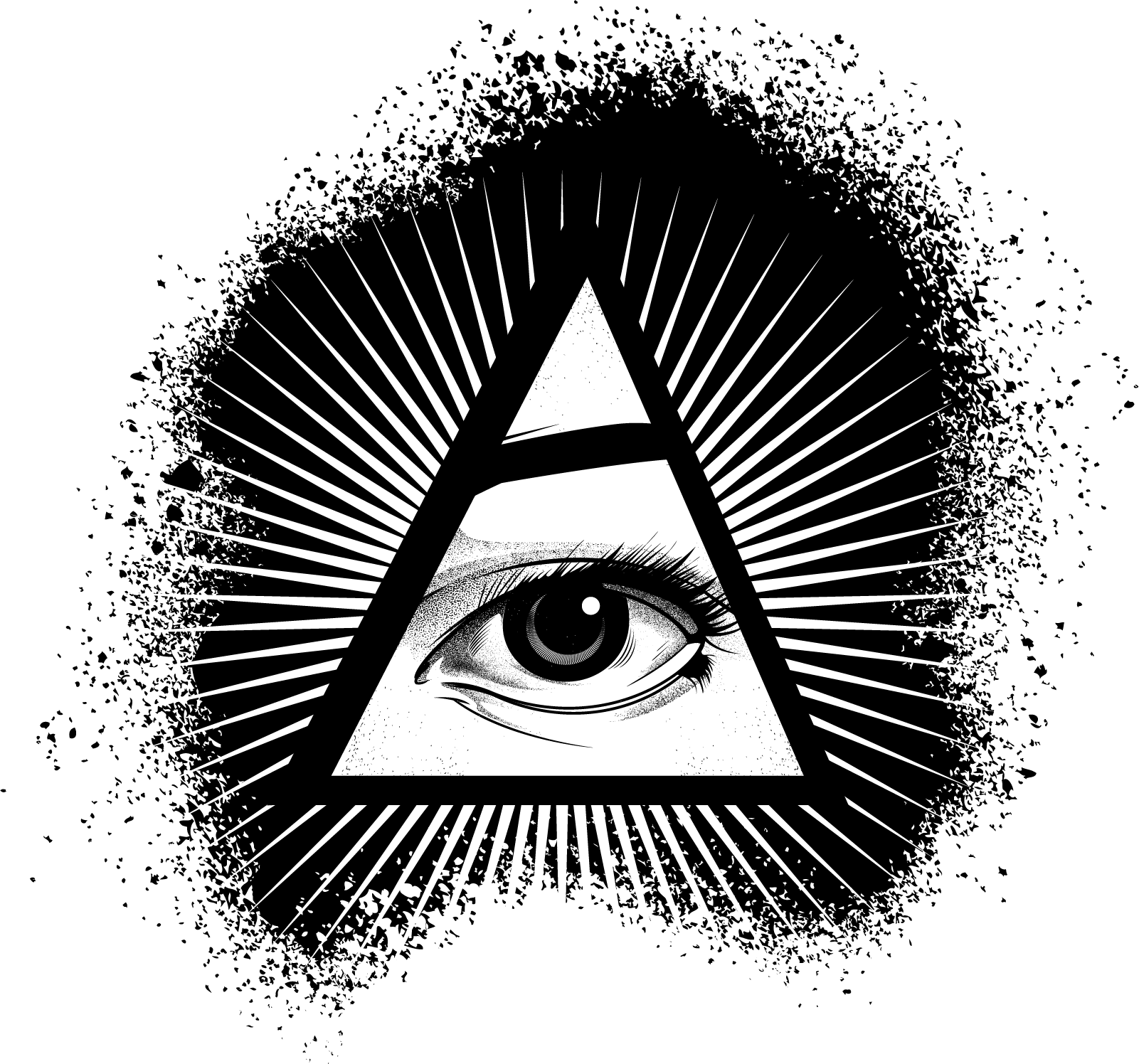 Illuminati Eye of Providence Clip art.