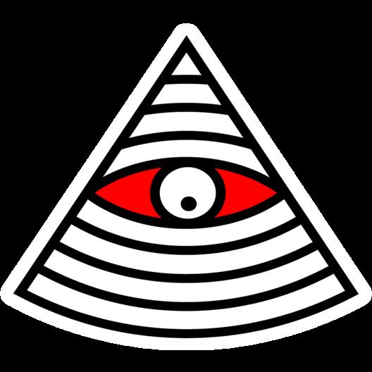 Eye of Providence Illuminati Clip art.