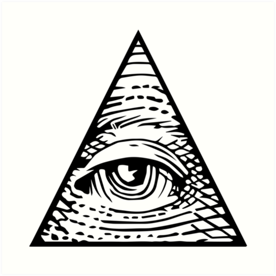 'illuminati Eye of Providence' Art Print by boxsmash.