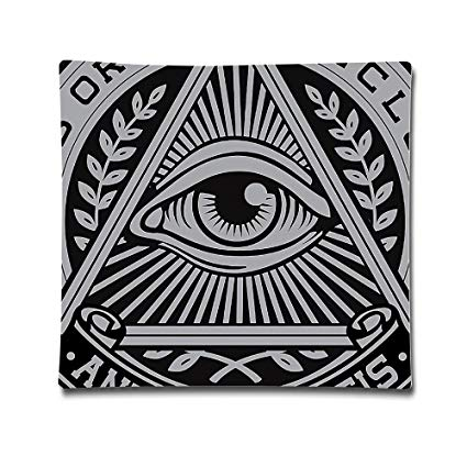 Illuminati.png Cotton Sateen Pillow Case Cushion Cover (18
