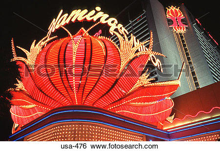 Stock Images of Casino Illuminations Las Vegas Nevada usa.