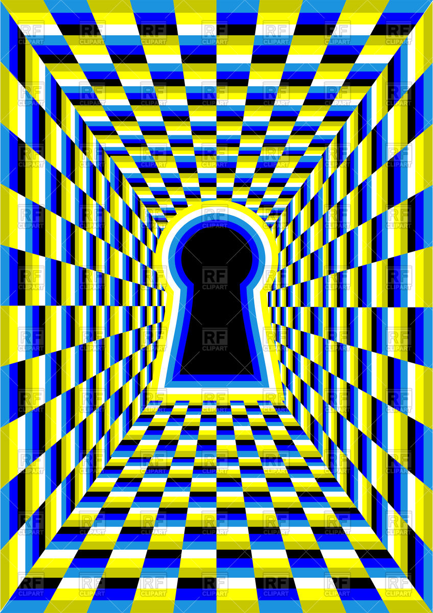 Optical illusion with keyhole Vector Image #91894.