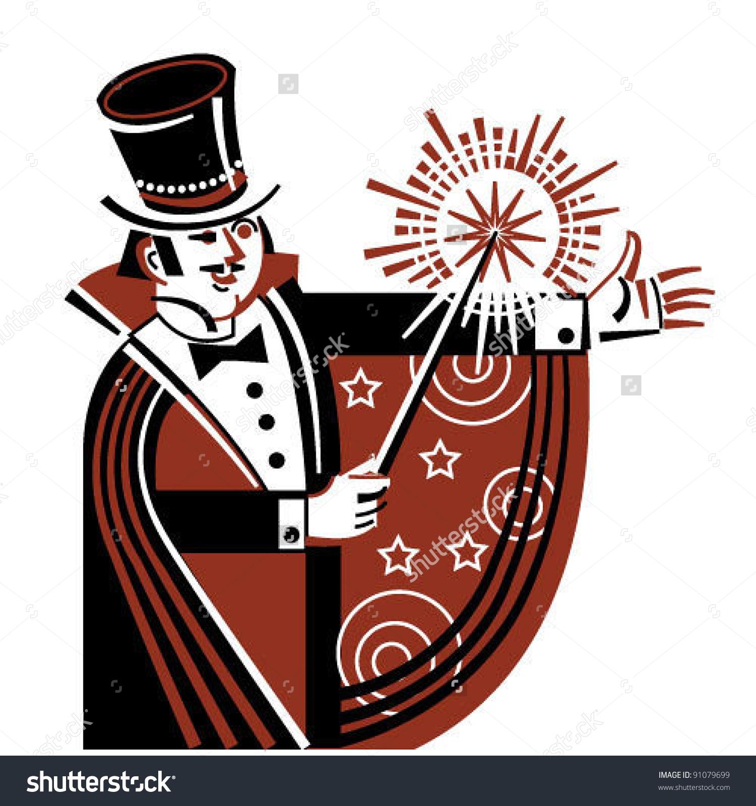 Illusionist Stock Vector Illustration 91079699 : Shutterstock.