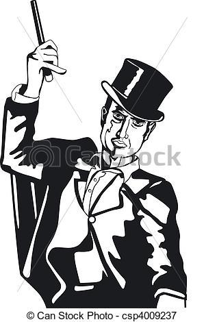 Stock Illustrations of illusionist csp4009237.