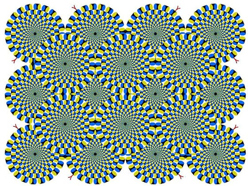 Moving Eye Illusions Clipart.