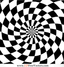 Optical illusion clipart.