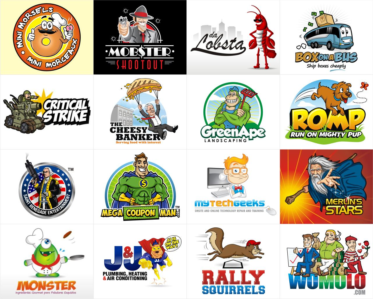 Character / Mascot Logo Vector Design by vector_factory on.