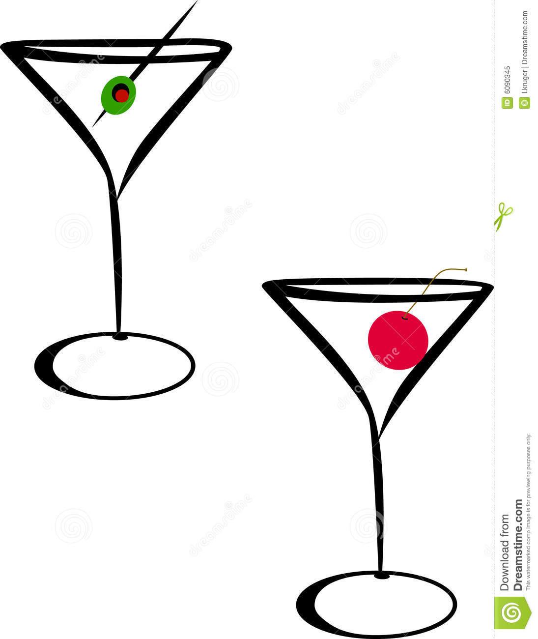 Clip Art Woman Martini Clipart.