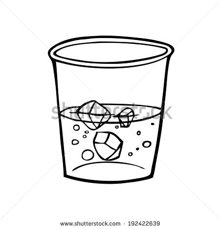 Empty Glass Of Water Clipart.