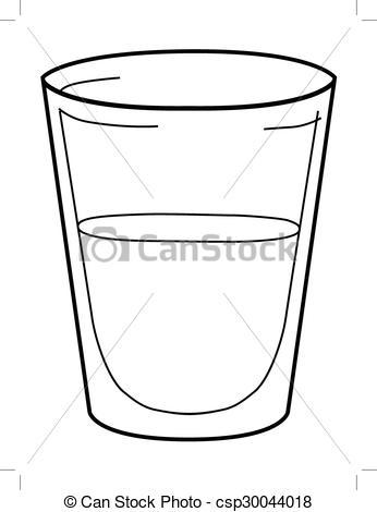Vector Clip Art of glass of water.