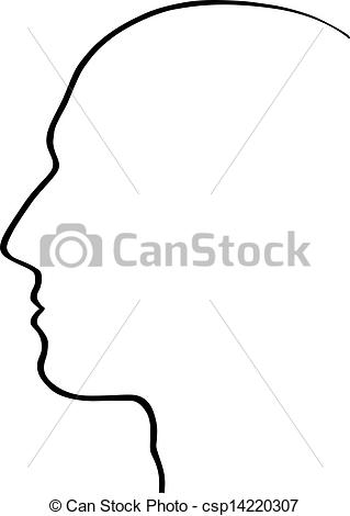 Vector Clipart of Human head csp14220307.