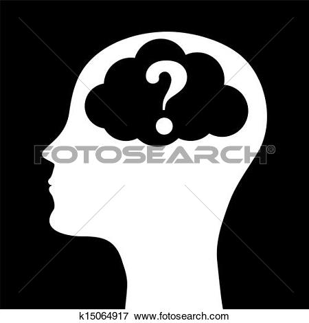 Clip Art of Human head silhouette k15064917.