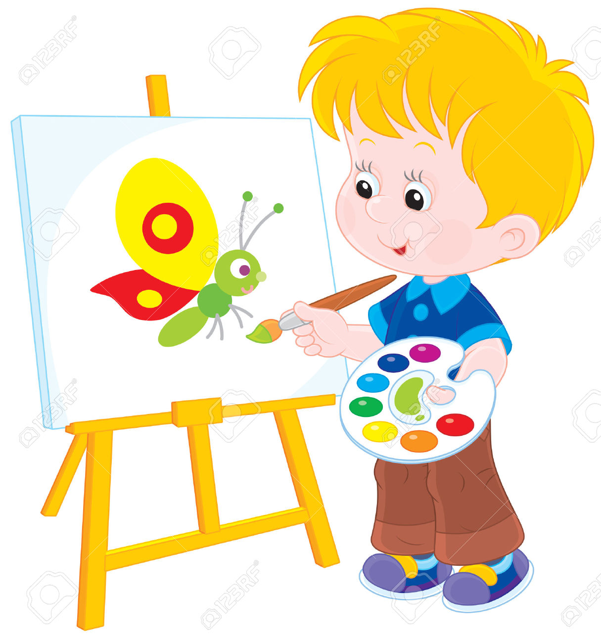 36,762 Child Painting Stock Illustrations, Cliparts And Royalty.