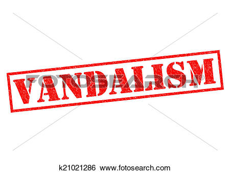 Stock Illustration of VANDALISM k21021286.