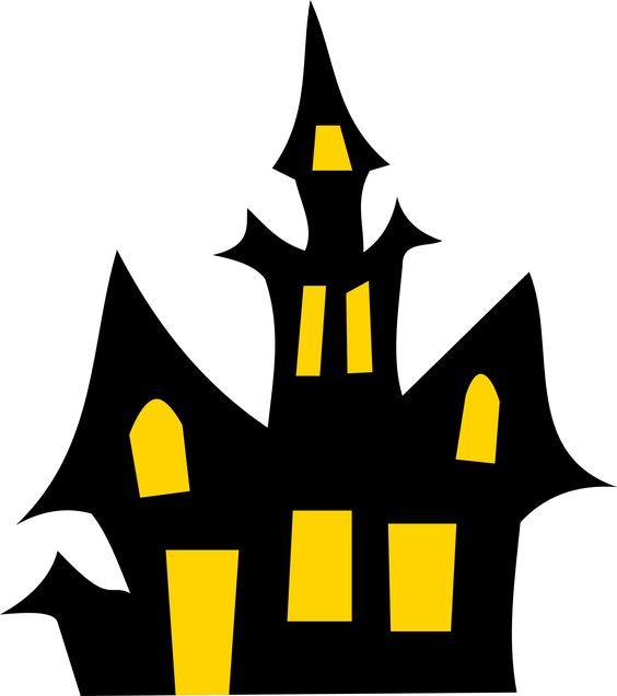 Free Haunted House Halloween Vector Clipart Illustration.