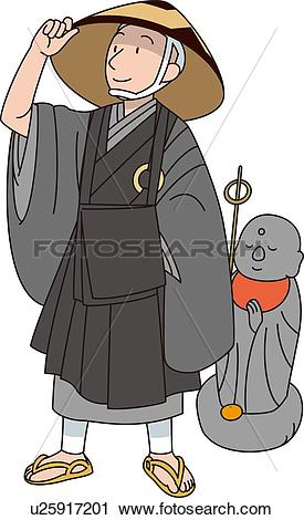Clipart of Buddhist , Illustrative TechniquePriest u25917201.