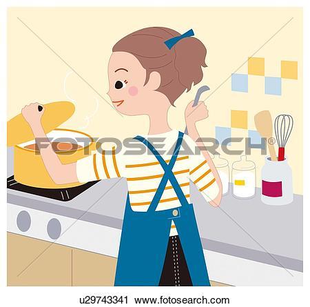 Clipart of Cooking, Illustrative Technique u29743341.