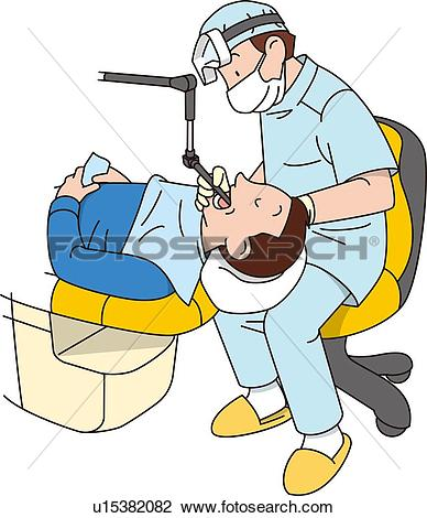 Clip Art of Dentist, Illustrative Technique u15382082.
