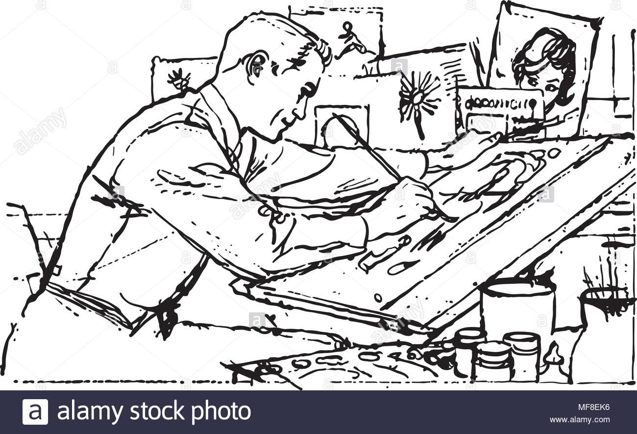 Illustrator At Work.