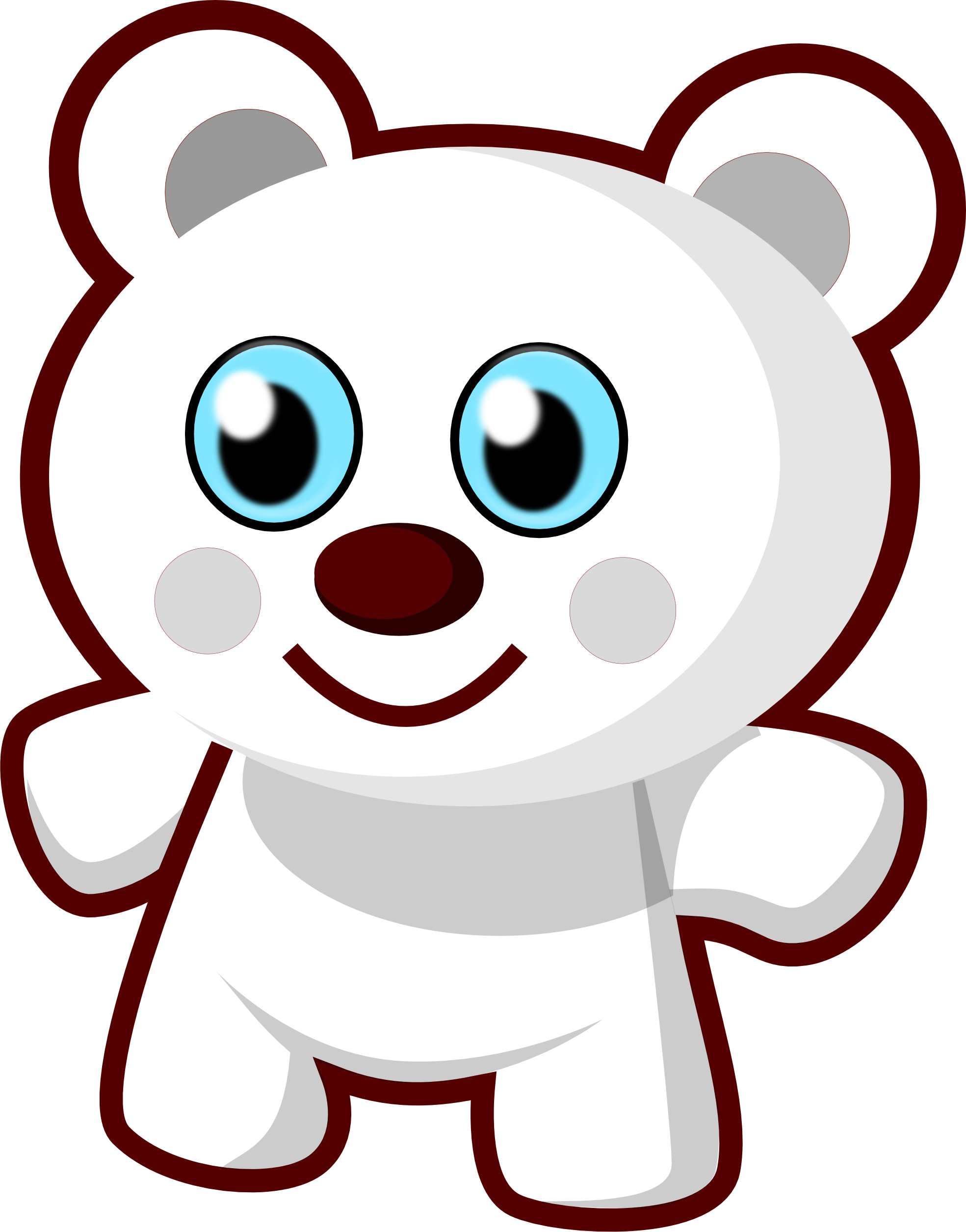 cute bear black white line art scalable vector graphics svg.