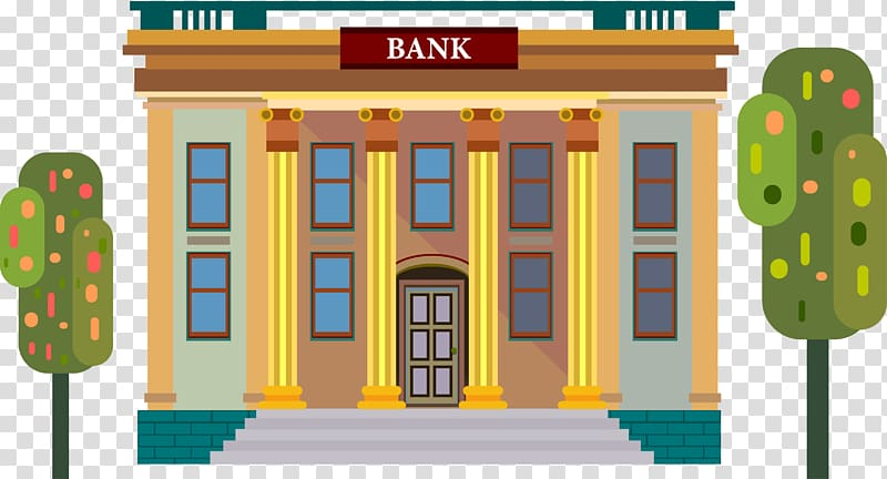 Online banking Money Saving, Illustration Bank transparent.