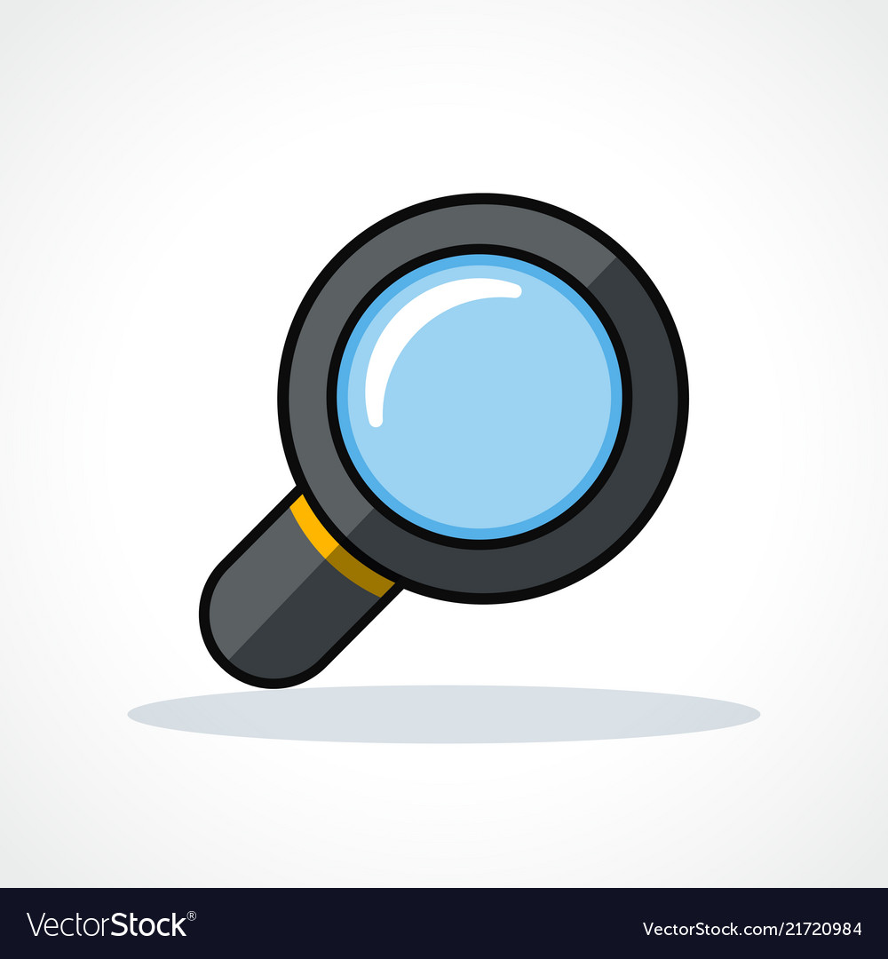 Magnifying glass design clipart.