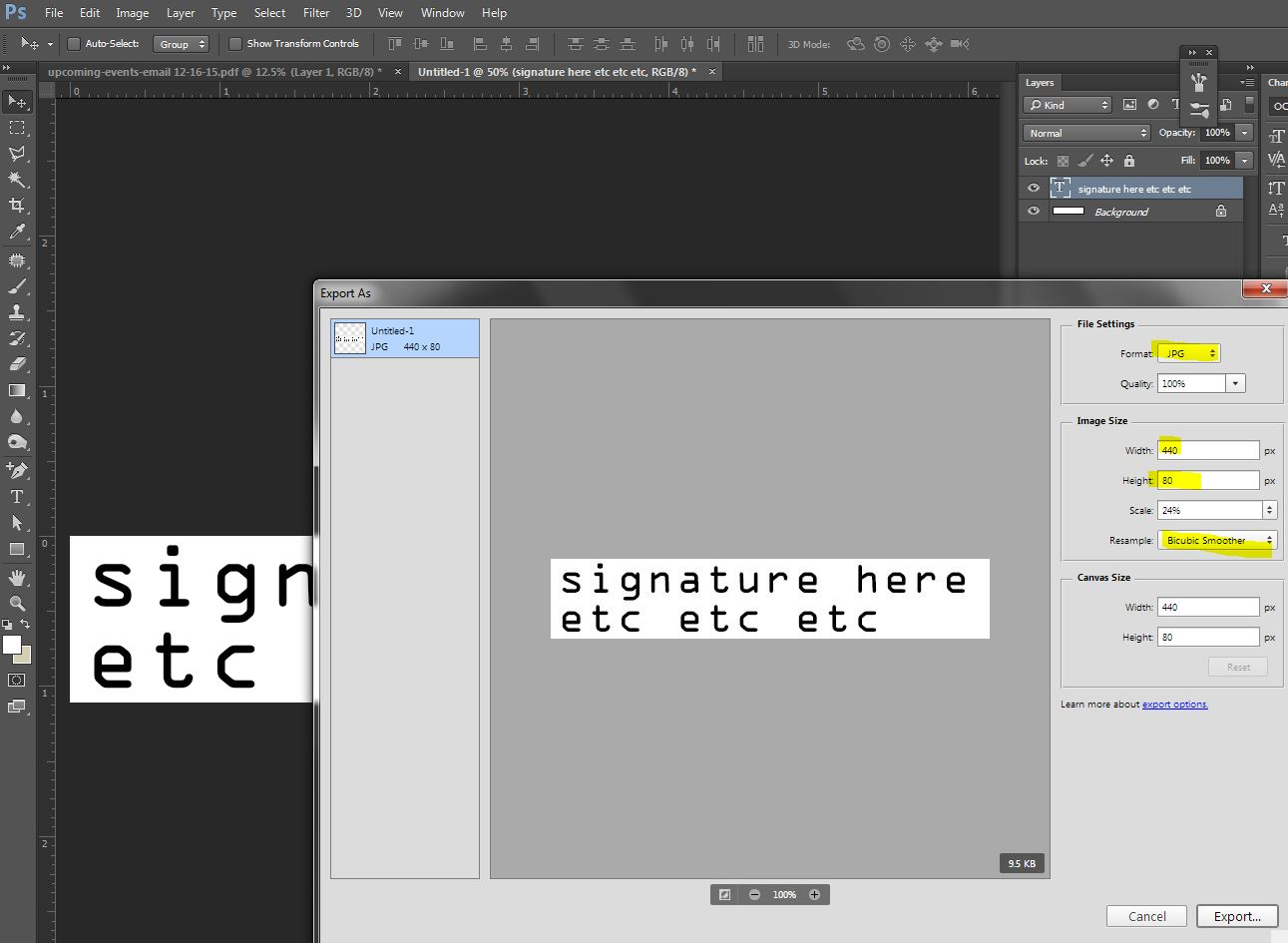 Exporting PNG & JPG blurry, can resize in gmail with no blur.