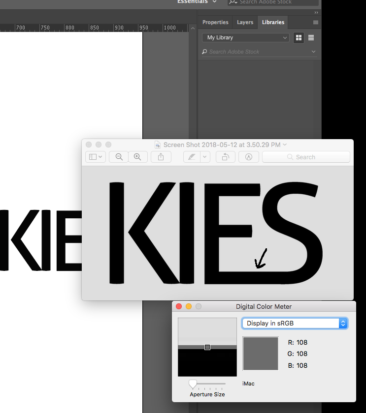 Illustrator Export as PNG adding grey border around logo text making.