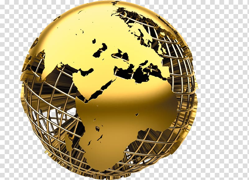 Import , Golden Earth transparent background PNG clipart.