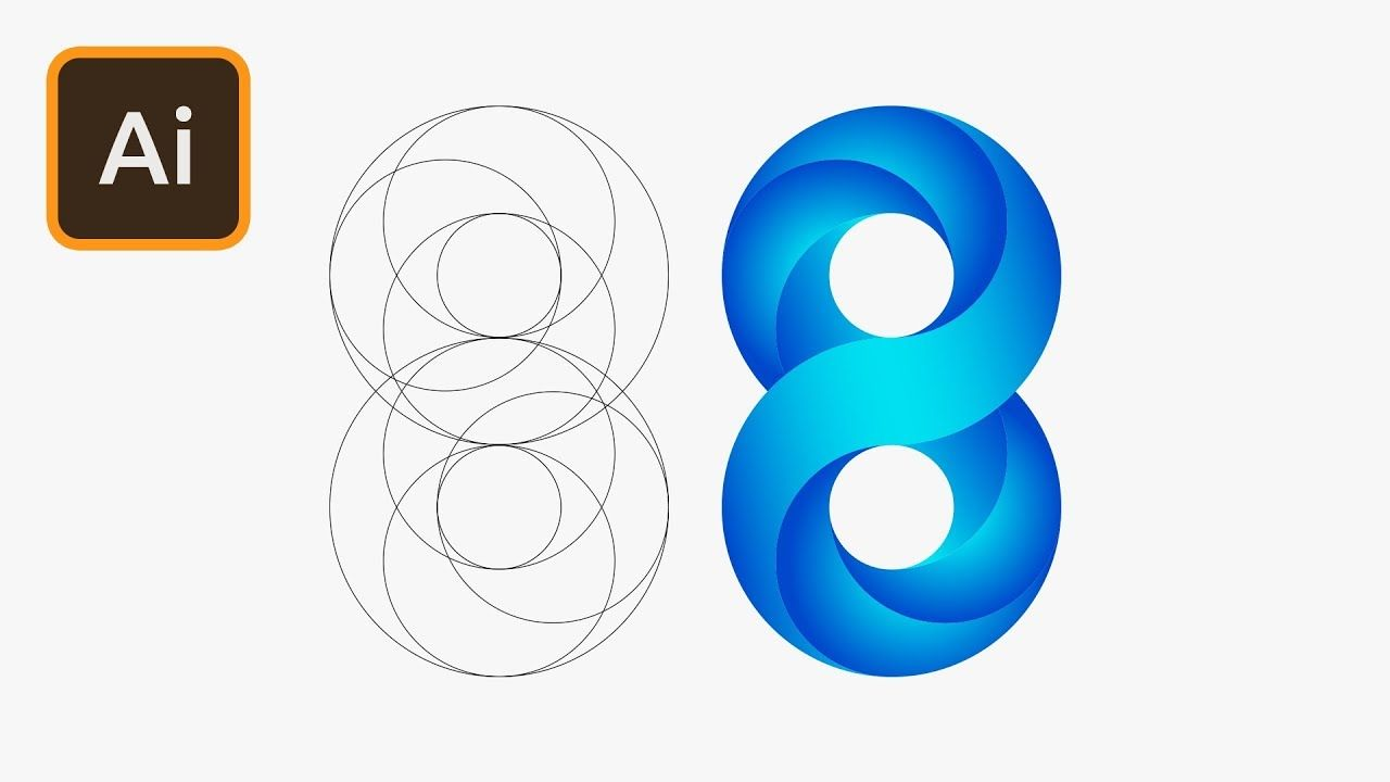 Swirling Infinite Logo Design in Illustrator.