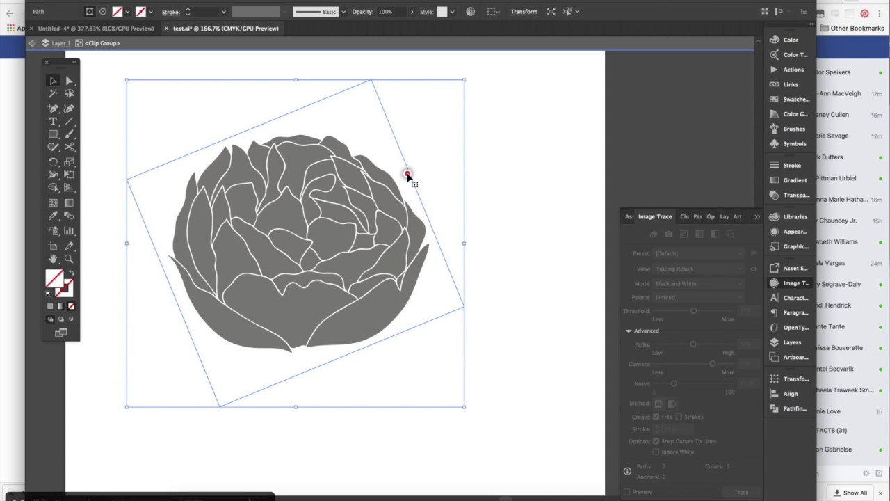 How to image trace a .png object in Illustrator.