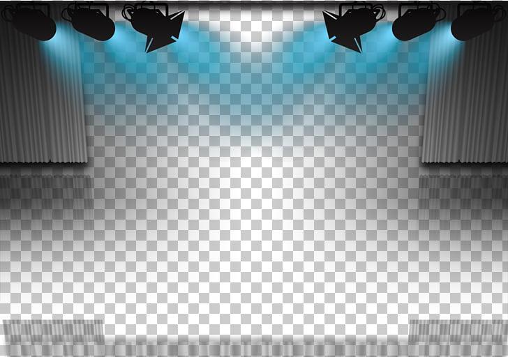 Par de luces y escenario, foco de iluminación de escenario.