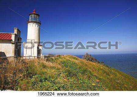 Stock Photo of North Head Lighthouse; Ilwaco Washington United.