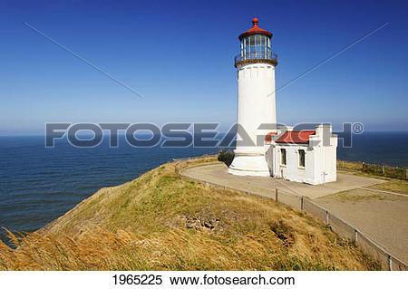 Stock Image of north head lighthouse; ilwaco washington united.