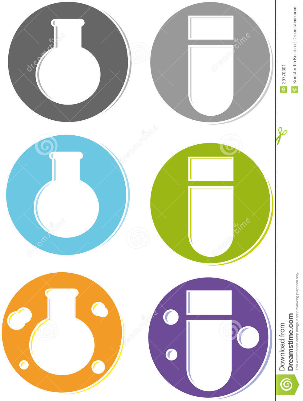 Science Test Tube Banner Clipart.