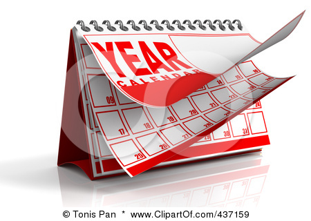 Yearly Calendar Clipart.
