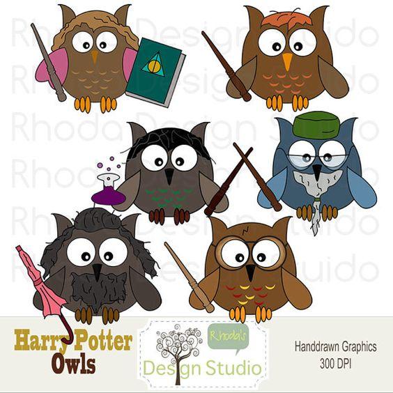 Owl Clip Art Harry Potter Digital Cartoon Birds.