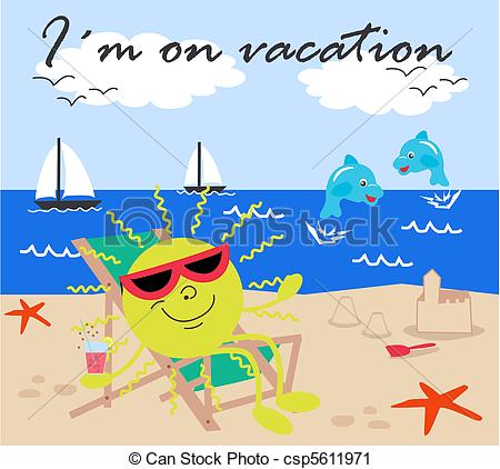 I'm On Vacation Clipart.