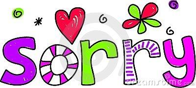 Im Sorry Clip Art N11 free image.